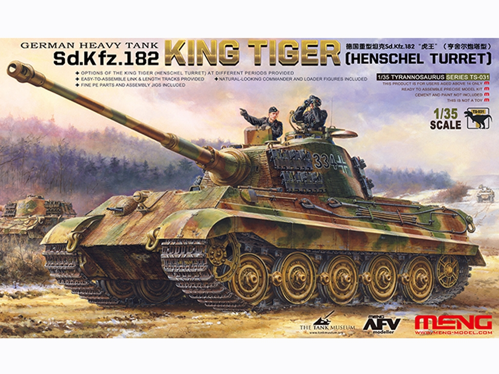 Heavy Tank Sd.Kfz.182 King Tiger Hensche - Ref.: MENG-TS031