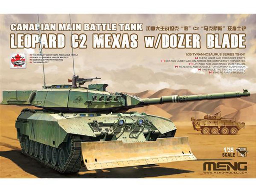 Canadian Main Battle Tank Leopard C2 MEXAS w/Dozer Blade