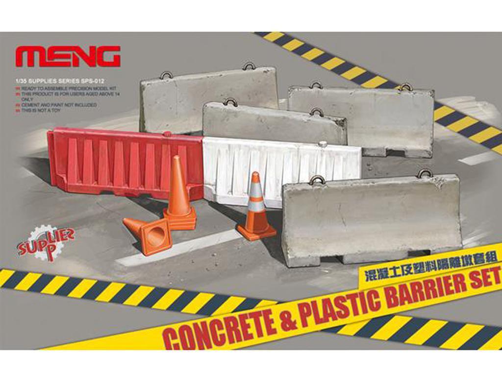 Barreras de hormigón y plástico (Vista 1)