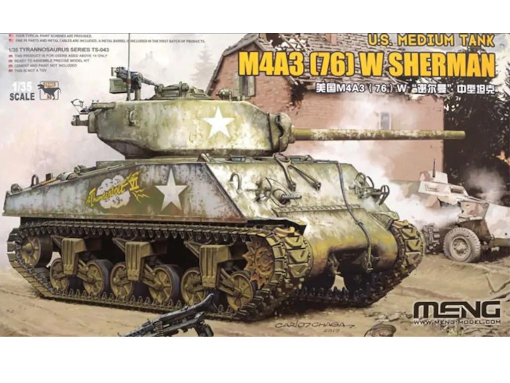 U.S. Medium Tank M4A3 (76) W Sherman  (Vista 1)