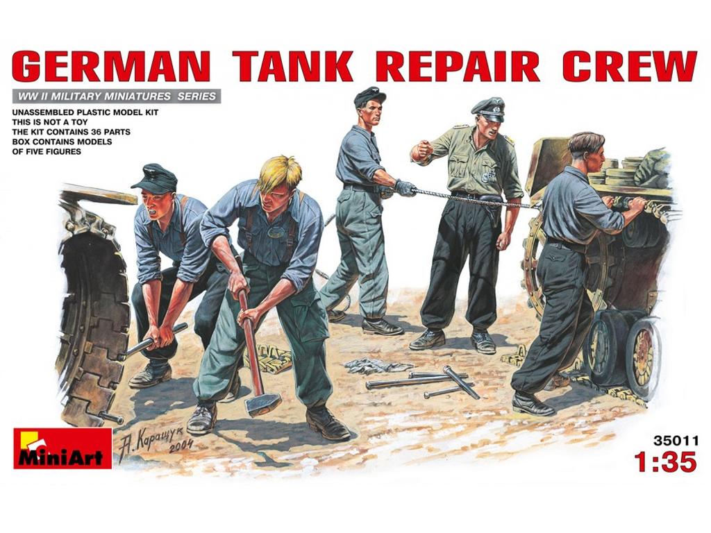 Carristas Alemanes Reparando - Ref.: MIAR-35011