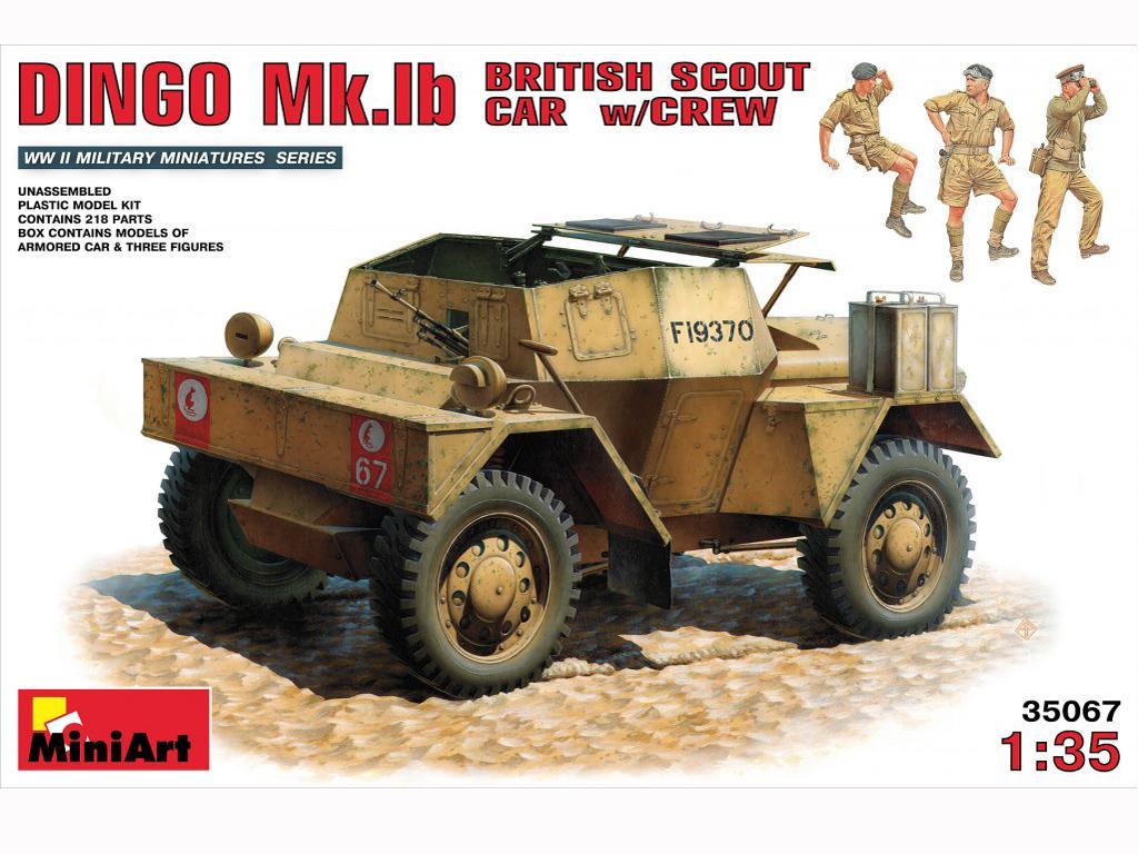 Dingo Mk.1b British Armored Car w/Crew - Ref.: MIAR-35067