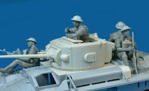 Soldados Britanicos sobre tanque  (Vista 3)