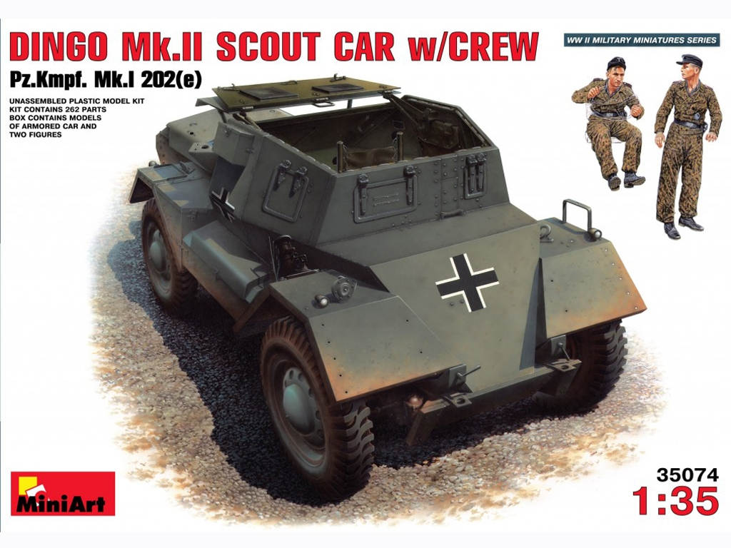 Dingo Mk.II Armored Car w/ German Crew - Ref.: MIAR-35074