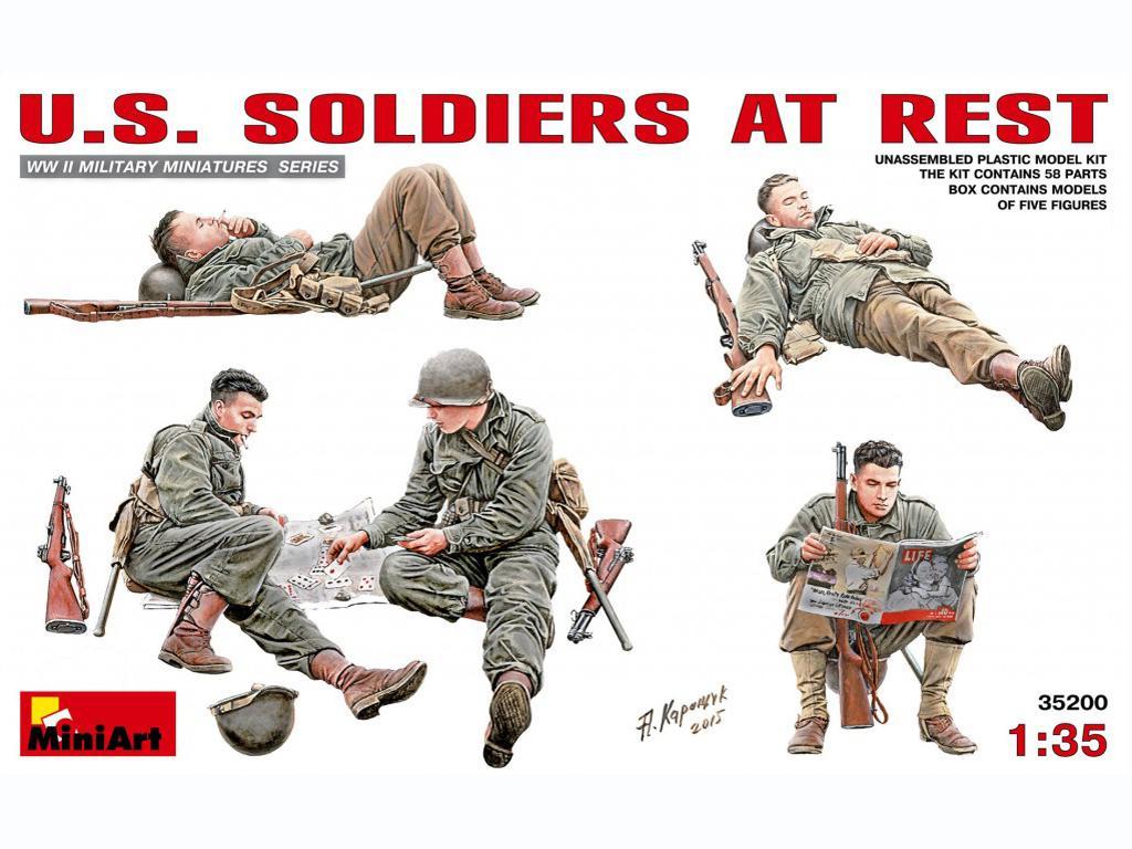 Soldados Americanos descansando - Ref.: MIAR-35200
