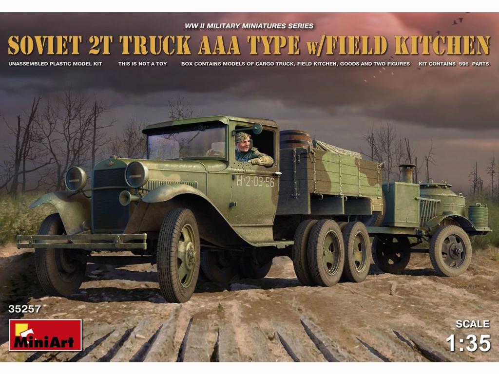 Soviet 2t Truck AAA Type w/Filed Kitchen  (Vista 1)