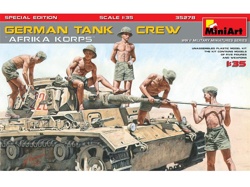 German Tank Crew Afrika Korps  (Vista 1)