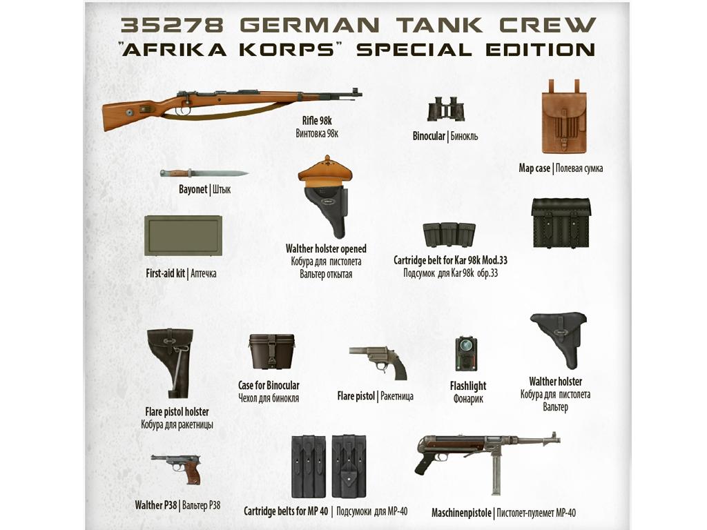 German Tank Crew Afrika Korps  (Vista 8)