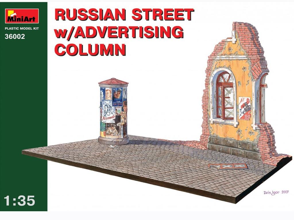 Callle Rusa con Columna de publicidad - Ref.: MIAR-36002