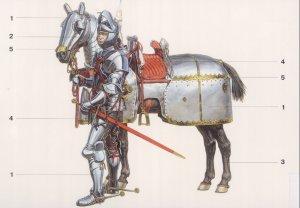 Caballeros Borgoñones montados . Siglo   (Vista 2)
