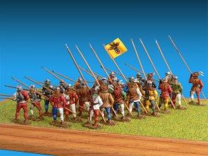 Caballeros Suizos. Siglo XV  (Vista 2)