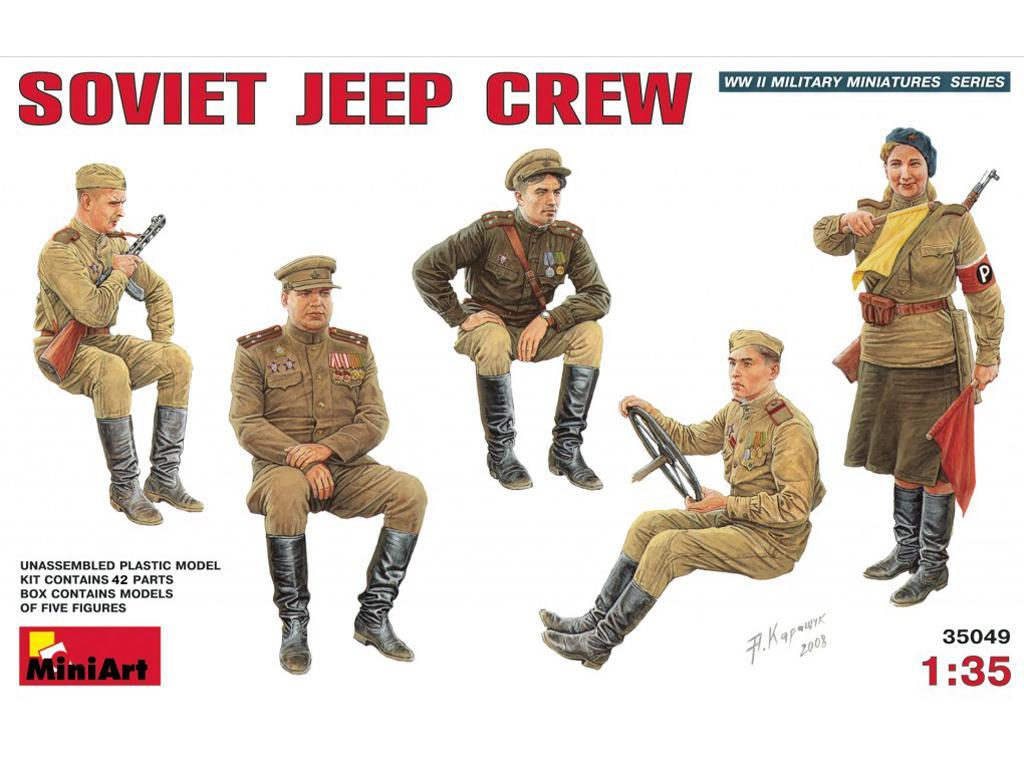 Tripulantes Jeep Sovietico (Vista 1)