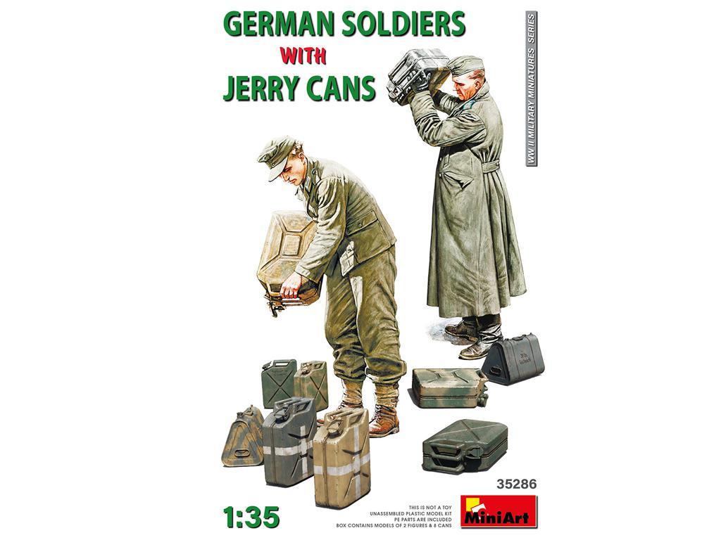 Soldados Alemanes con Jerry Cans (Vista 1)