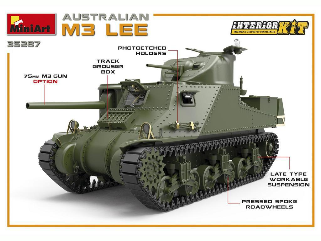Australian M3 LEE. Interior Kit (Vista 4)