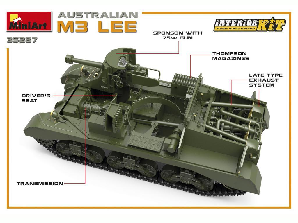 Australian M3 LEE. Interior Kit (Vista 5)
