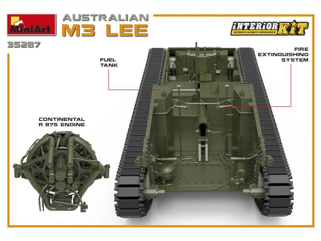 Australian M3 LEE. Interior Kit (Vista 6)