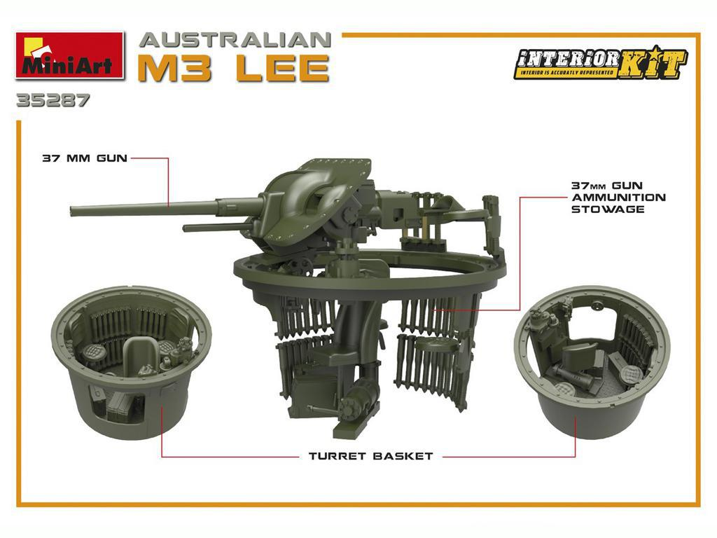 Australian M3 LEE. Interior Kit (Vista 7)
