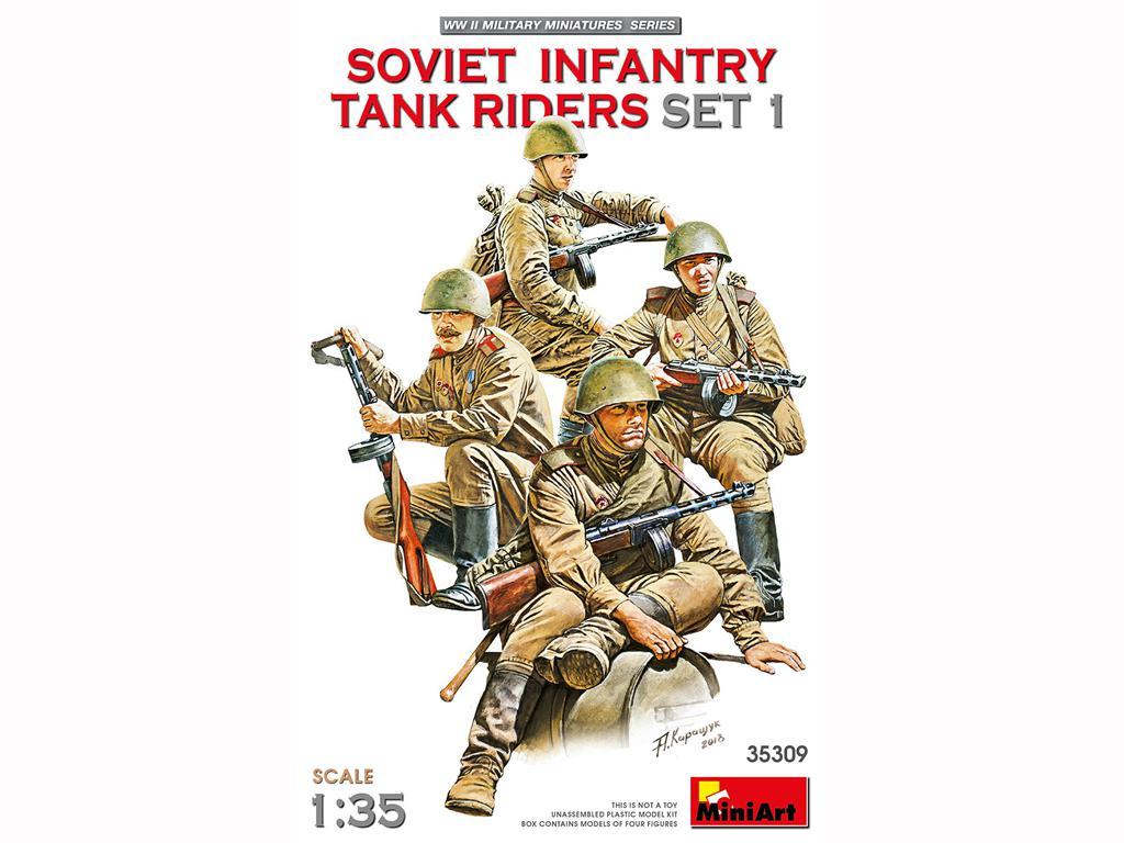 Infantería Soviética sobre Tanque Set 1 (Vista 1)
