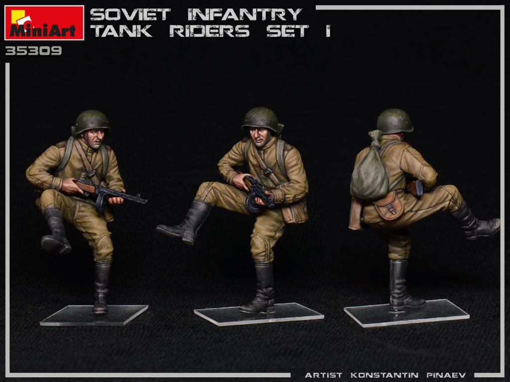 Infantería Soviética sobre Tanque Set 1 (Vista 2)