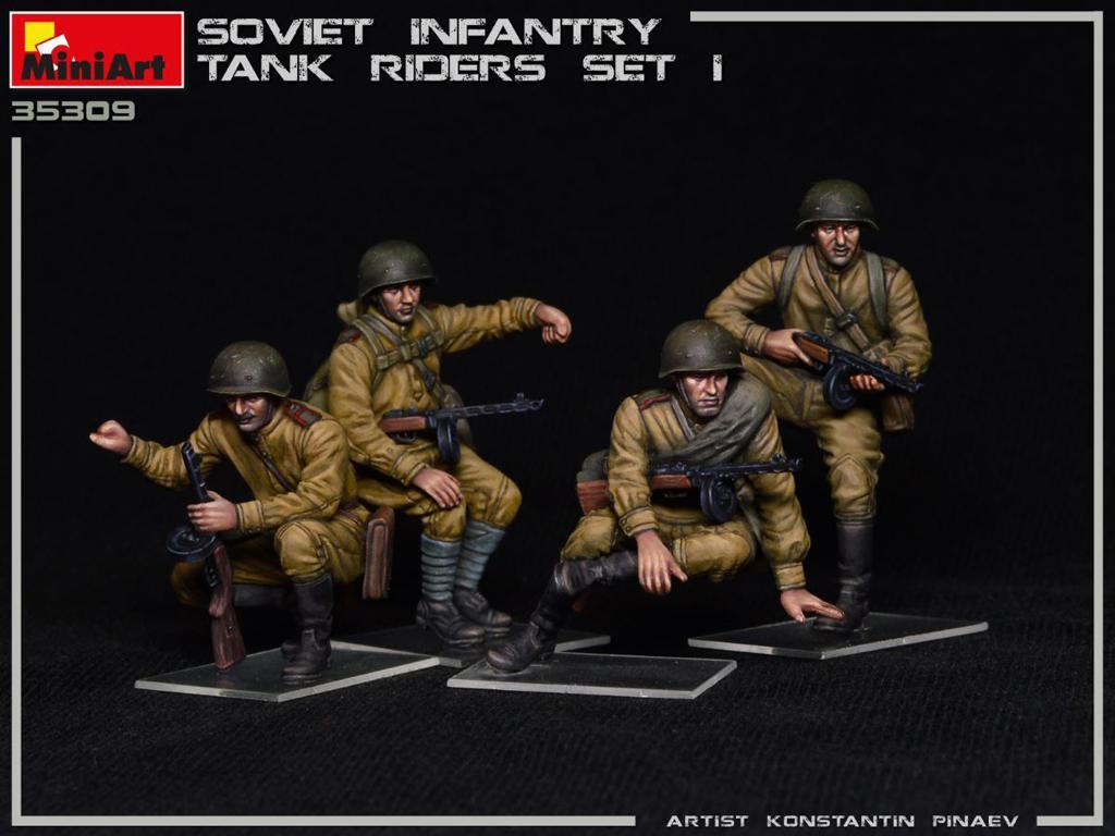 Infantería Soviética sobre Tanque Set 1 (Vista 3)