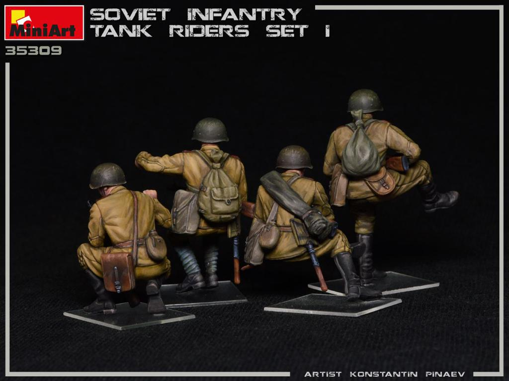 Infantería Soviética sobre Tanque Set 1 (Vista 4)