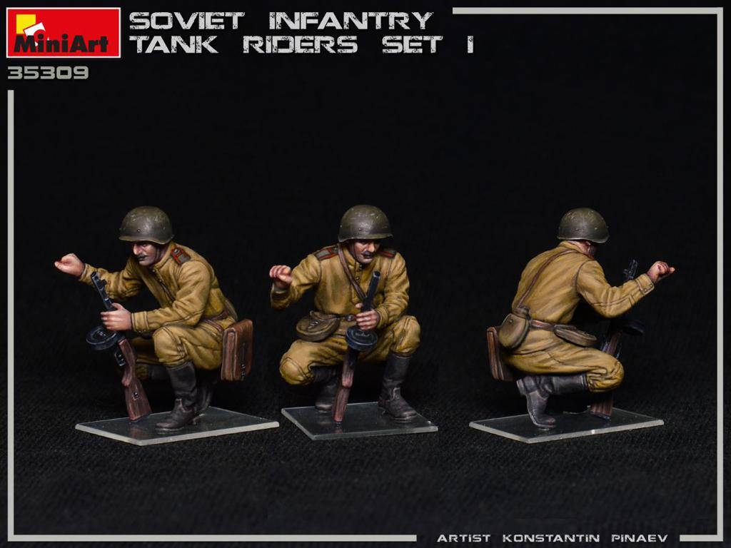 Infantería Soviética sobre Tanque Set 1 (Vista 5)