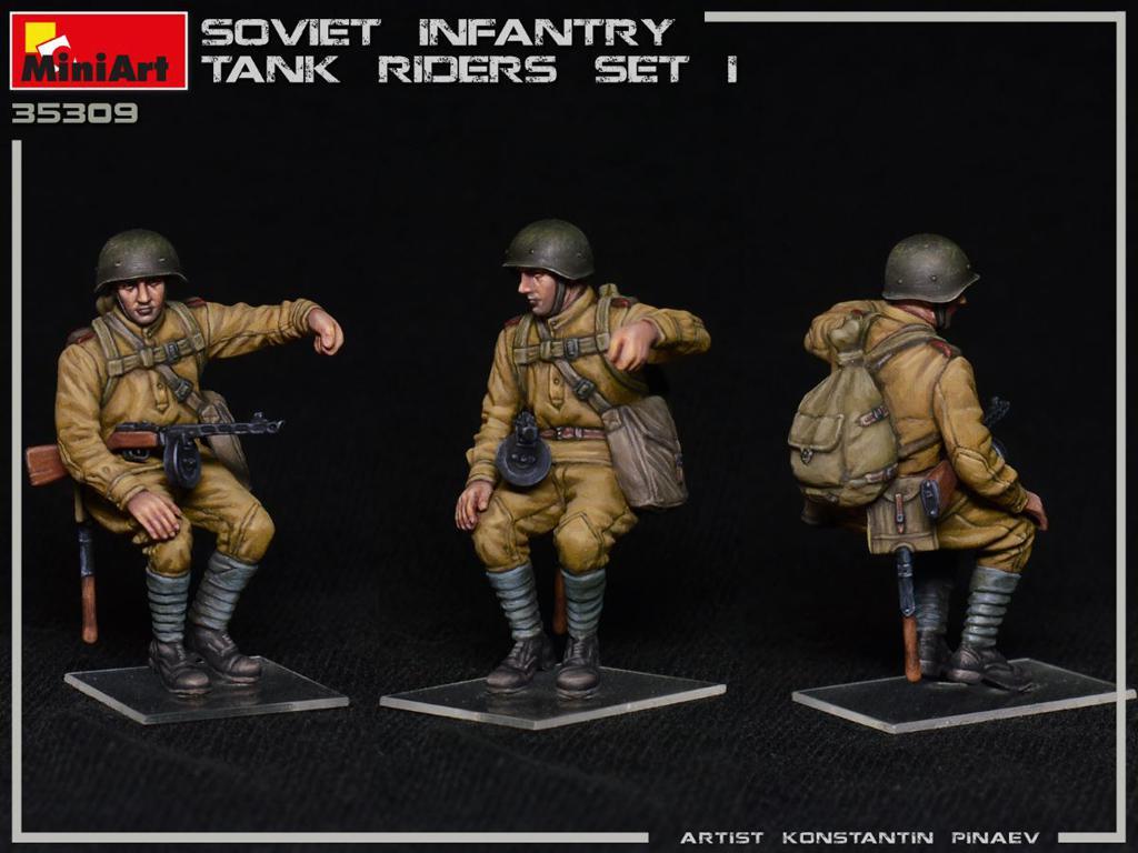 Infantería Soviética sobre Tanque Set 1 (Vista 6)