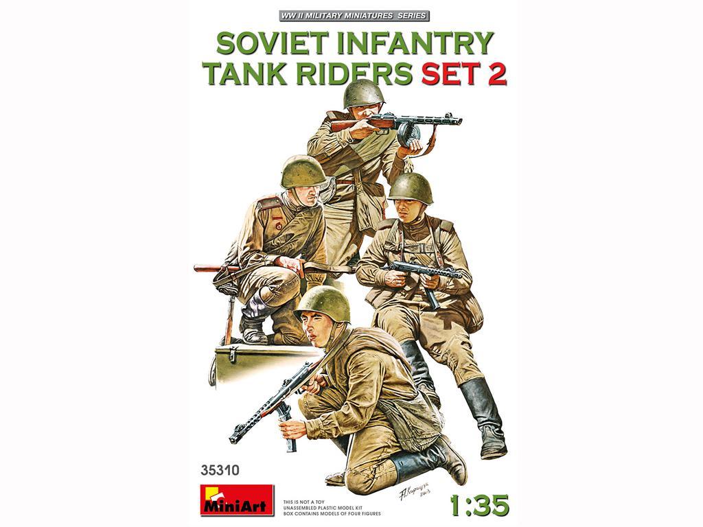 Infantería Soviética sobre Tanque Set 2 (Vista 1)