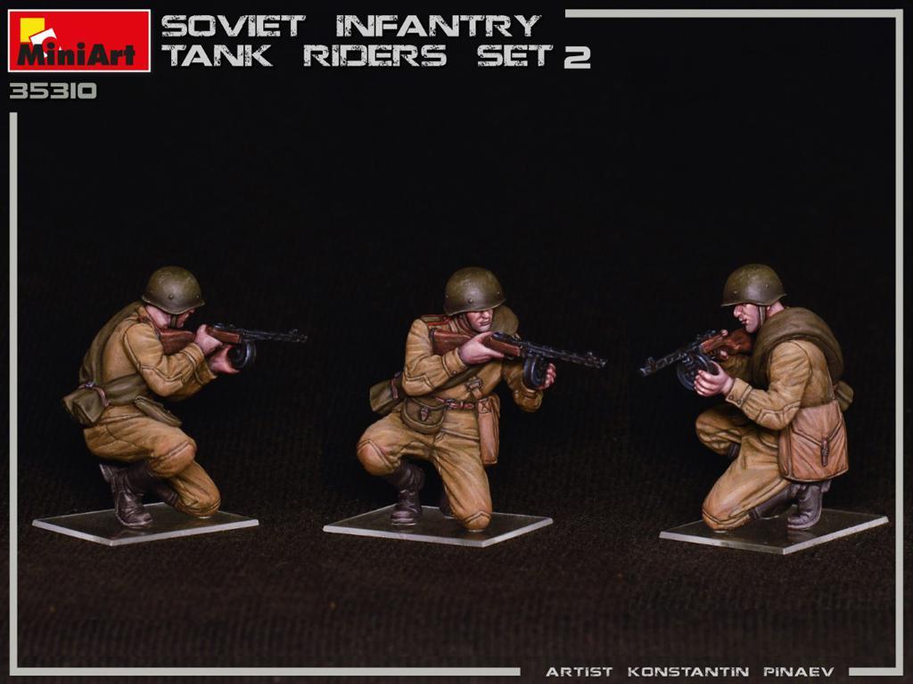 Infantería Soviética sobre Tanque Set 2 (Vista 3)