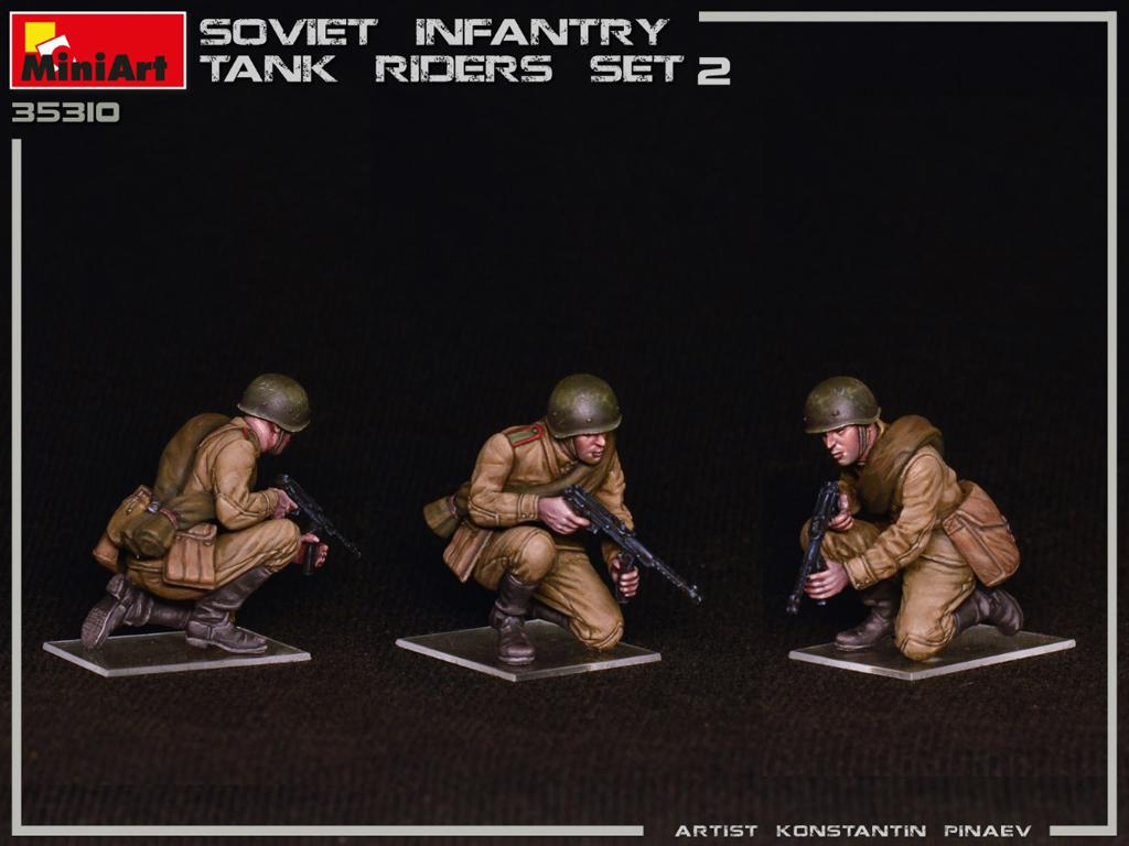 Infantería Soviética sobre Tanque Set 2 (Vista 4)