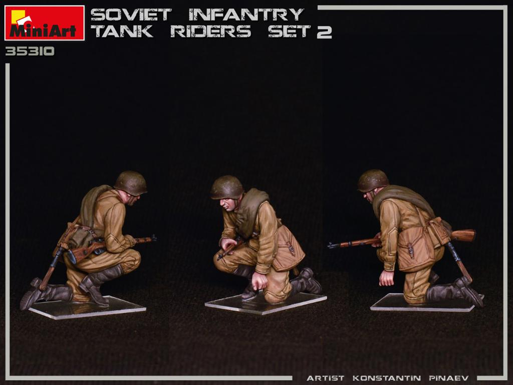 Infantería Soviética sobre Tanque Set 2 (Vista 5)