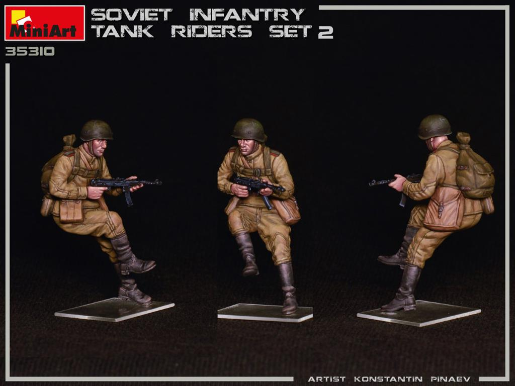 Infantería Soviética sobre Tanque Set 2 (Vista 6)