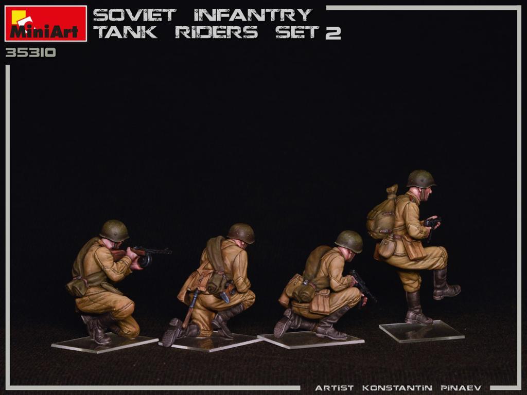 Infantería Soviética sobre Tanque Set 2 (Vista 7)