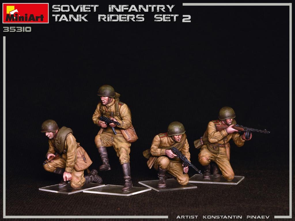 Infantería Soviética sobre Tanque Set 2 (Vista 8)