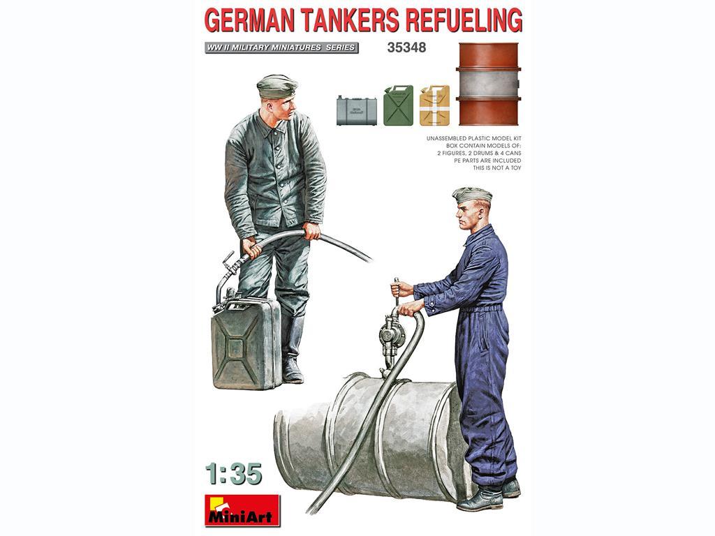 Tanquistas Alemanes Repostando (Vista 1)
