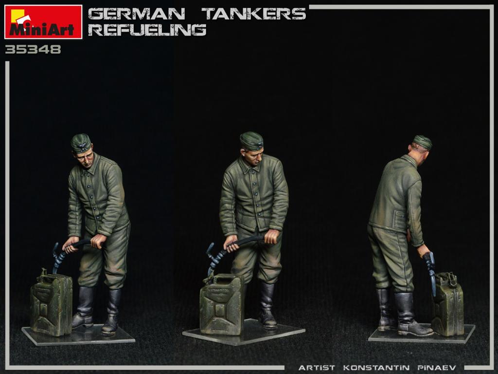 Tanquistas Alemanes Repostando (Vista 2)