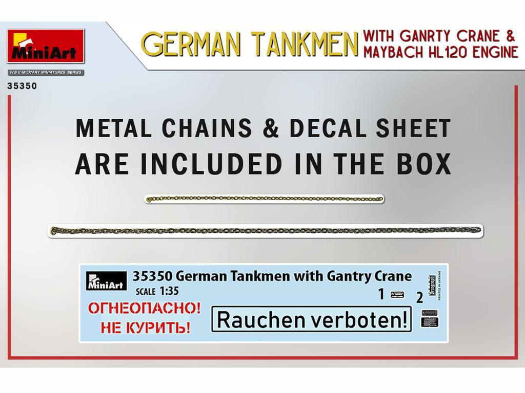 Tanquistas Alemanes con grúa de pórtico y motor Maybach HL 120 (Vista 2)