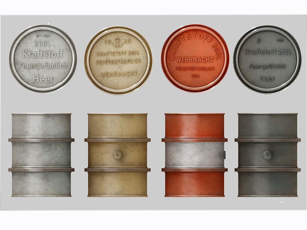 Bidones Combustible Alemanes de 200 L (Vista 2)