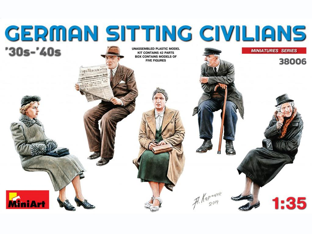 Pasajeros sentados '30 -'40S (Vista 1)