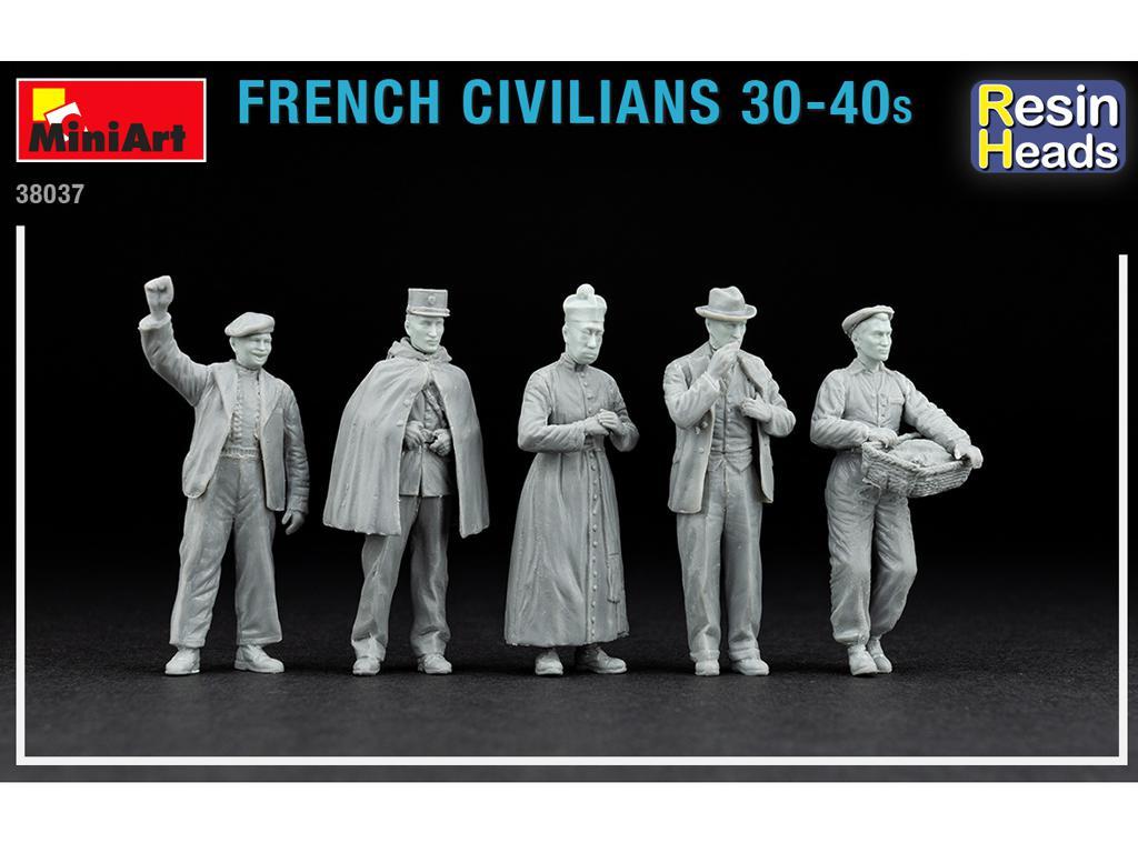 Civiles franceses de 30 a 40 años. (Vista 2)