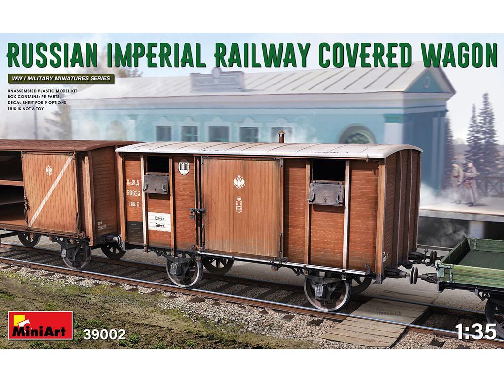 Vagón cubierto de Ferrocarril Imperial Ruso (Vista 1)