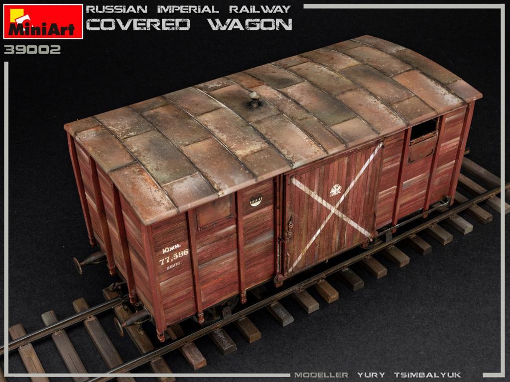 Vagón cubierto de Ferrocarril Imperial Ruso (Vista 10)