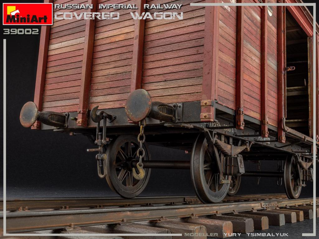 Vagón cubierto de Ferrocarril Imperial Ruso (Vista 11)