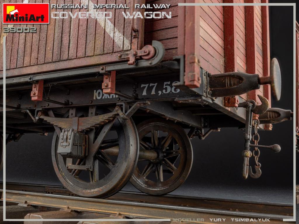 Vagón cubierto de Ferrocarril Imperial Ruso (Vista 12)