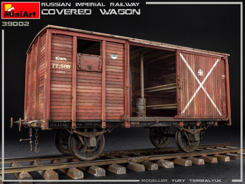 Vagón cubierto de Ferrocarril Imperial Ruso (Vista 3)