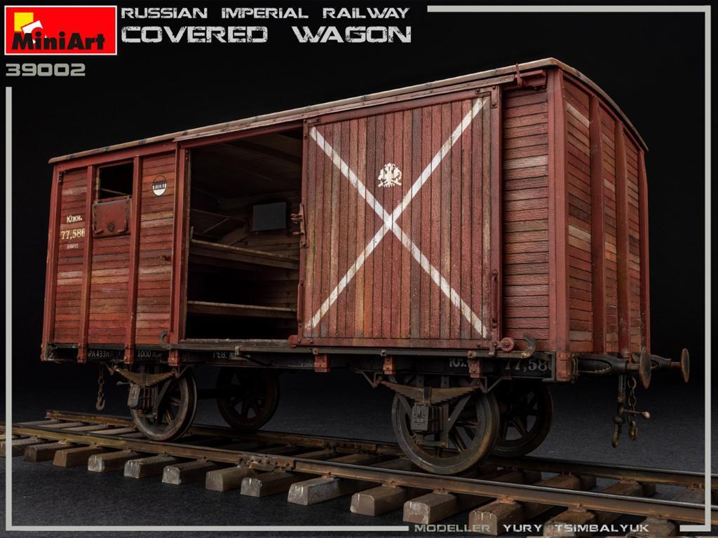 Vagón cubierto de Ferrocarril Imperial Ruso (Vista 4)