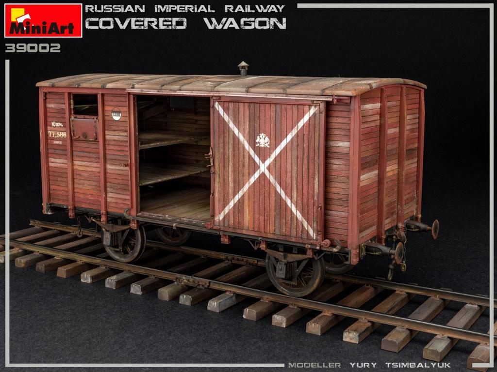 Vagón cubierto de Ferrocarril Imperial Ruso (Vista 5)