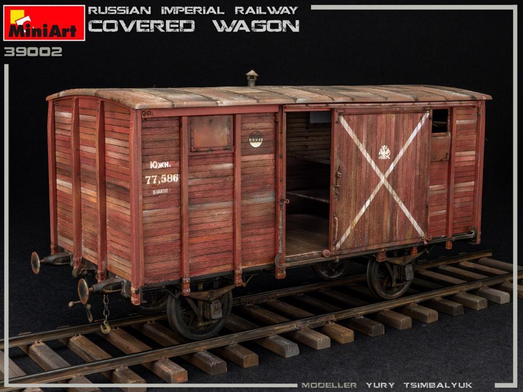 Vagón cubierto de Ferrocarril Imperial Ruso (Vista 6)