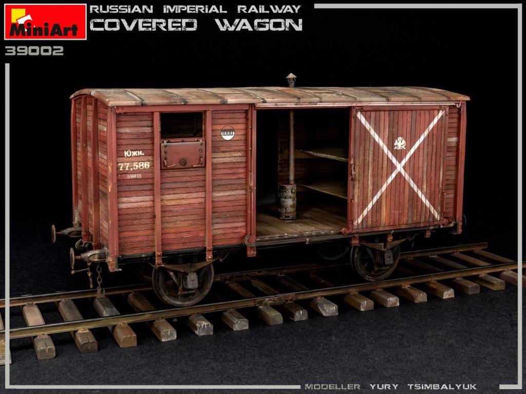 Vagón cubierto de Ferrocarril Imperial Ruso (Vista 7)