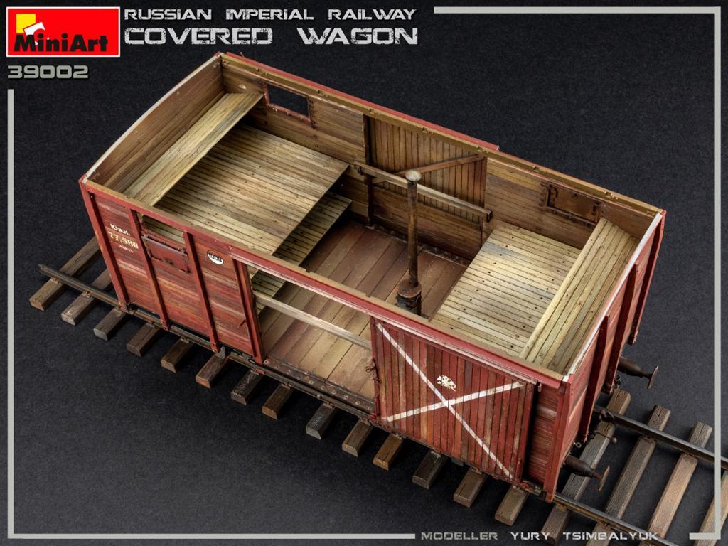 Vagón cubierto de Ferrocarril Imperial Ruso (Vista 8)